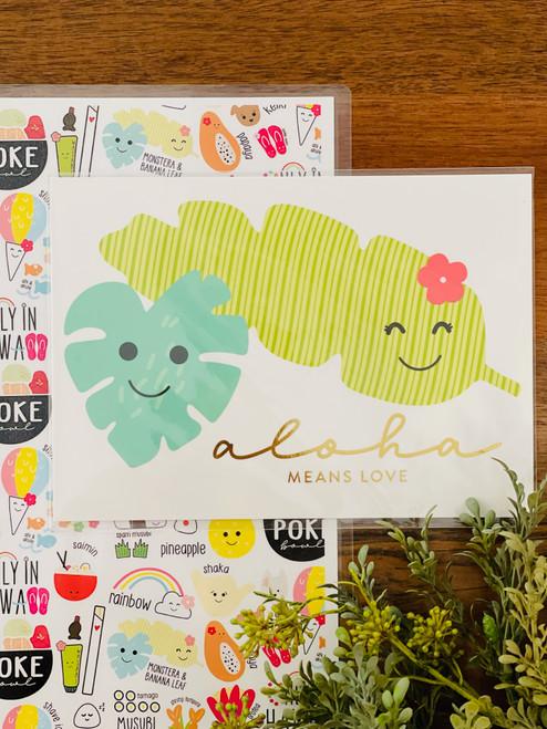 Art Print: Leaf Couple