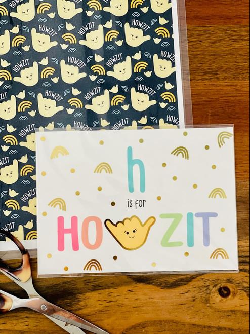 Art Print: H is for Howzit
