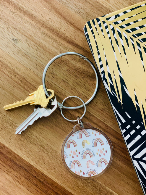 Keychain: Six Feet Together