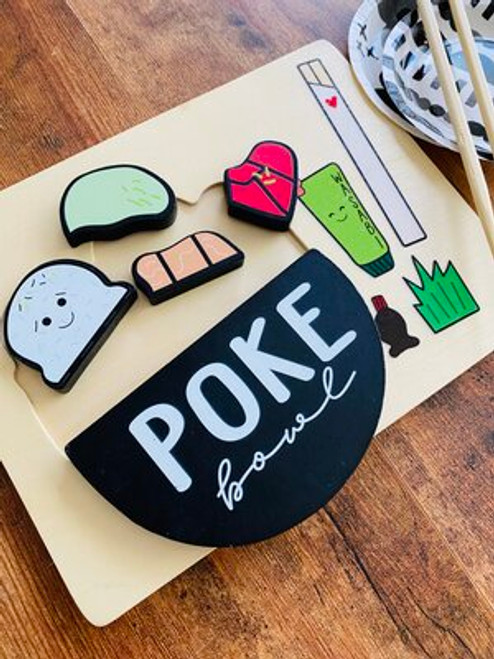 Wood Puzzle: Poke Bowl
