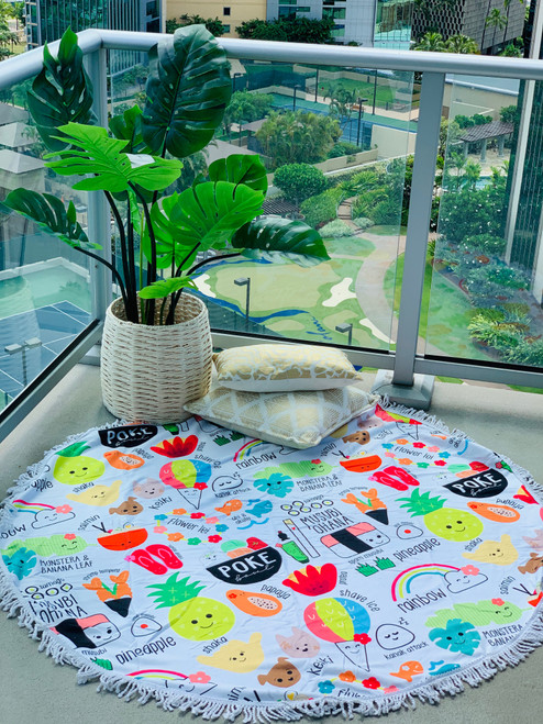 Round Towel: Heart of Eden Icons