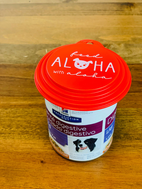 Feed Aloha Pup Can Cover: Red