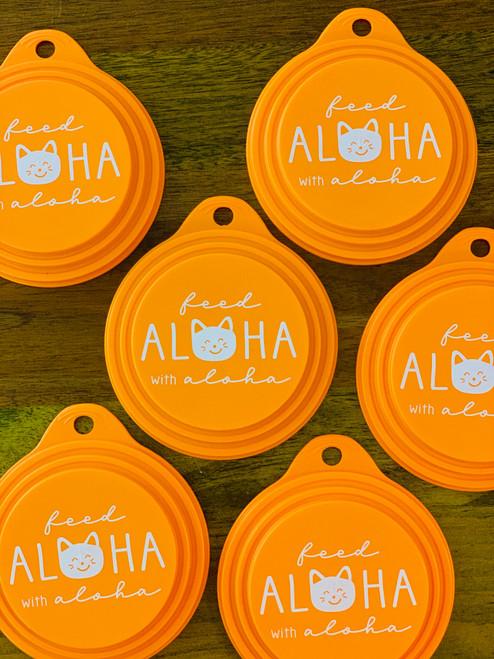 Feed Aloha Neko Can Cover: Orange
