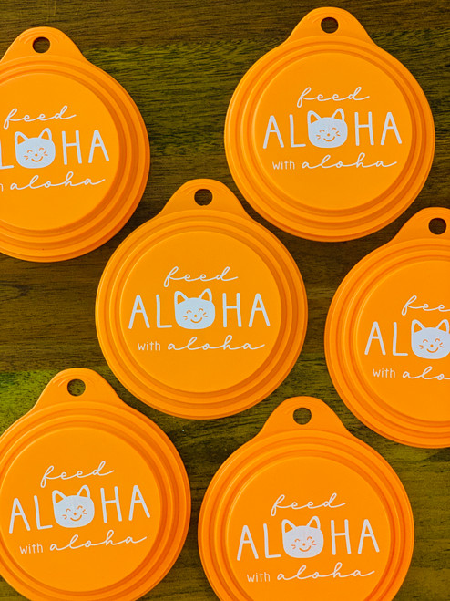 Feed Aloha Neko Can Cover: Orange