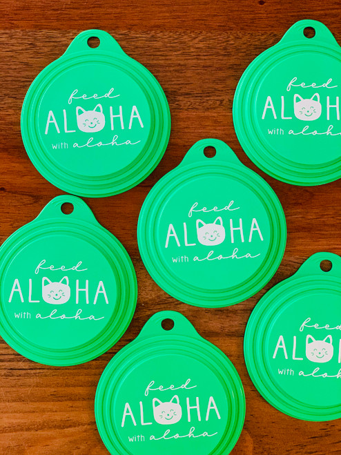 Feed Aloha Neko Can Cover: Green