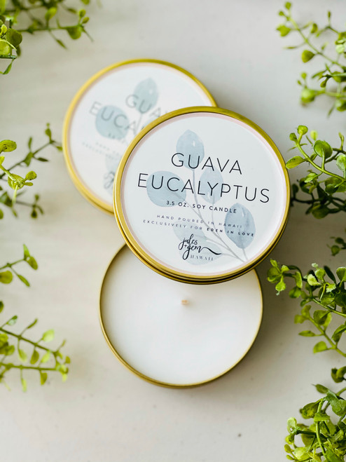 Jules and Gem 3.5 Oz. Travel Candle: Guava Eucalyptus