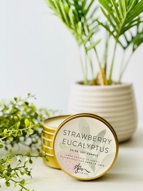 Jules and Gem 3.5 Oz. Travel Candle: Strawberry Eucalyptus
