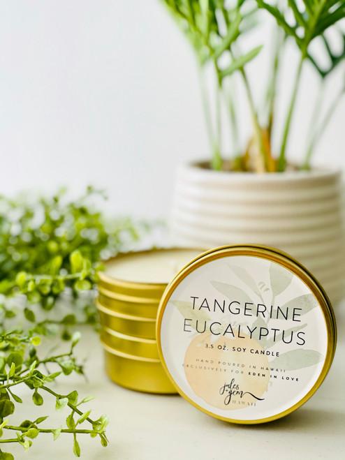 Jules and Gem 3.5 Oz. Travel Candle: Tangerine Eucalyptus