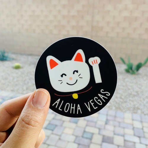 Sticker: Aloha Vegas Manekineko