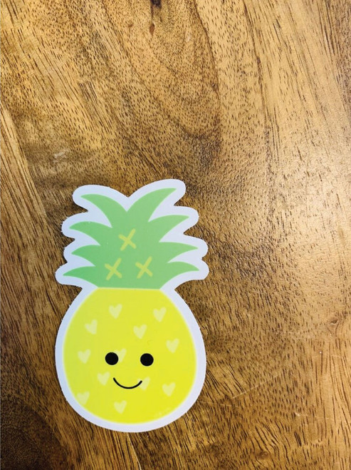 Sticker: Happy Pineapple