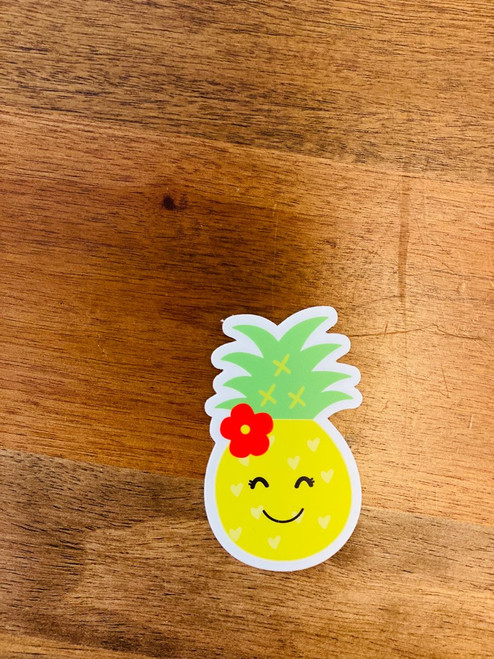 Sticker: Happy Pineapple Girl