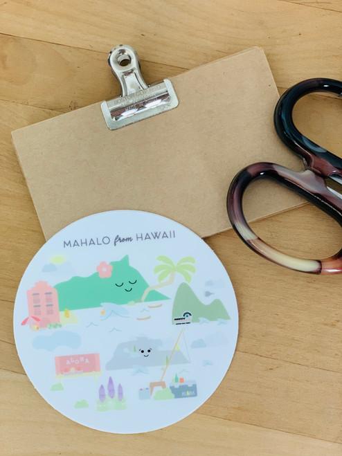 Sticker: Mahalo from Hawaii
