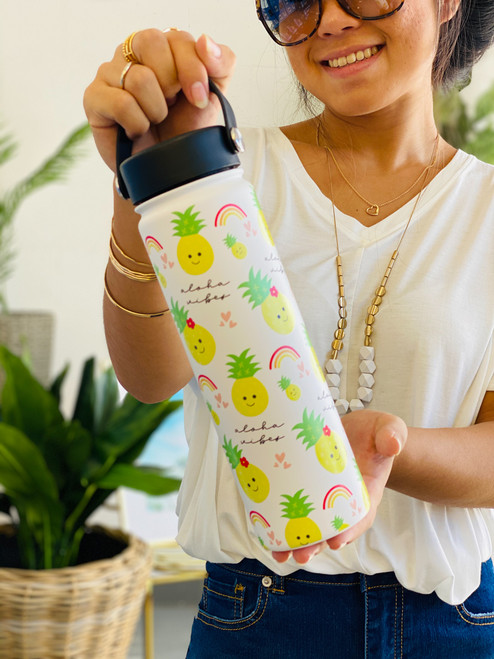 21 oz Water Bottle: Aloha Vibes