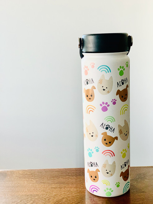 21 oz Water Bottle: Bear and Noodle
