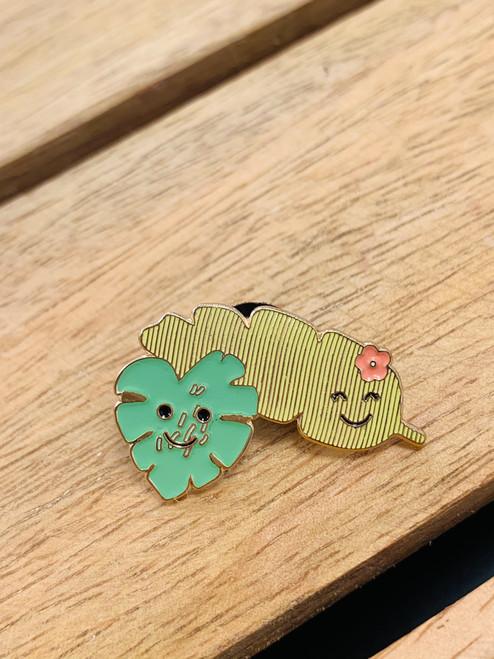 Enamel Pin: Leaf Couple