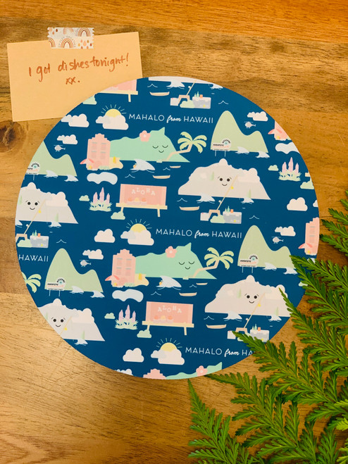 Fabric Trivet: Mahalo From Hawaii