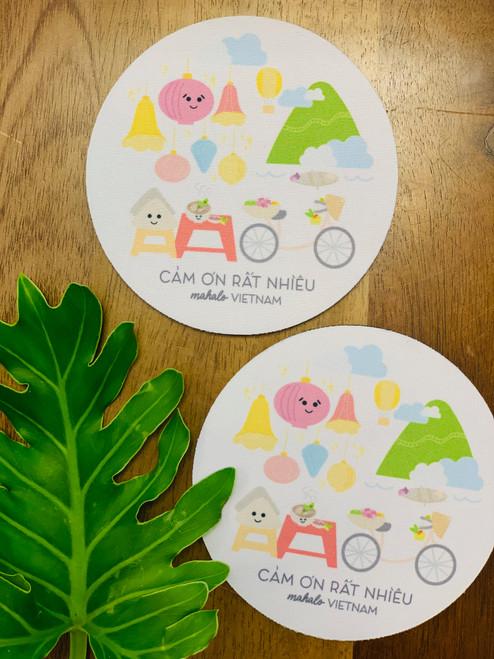 Fabric Coaster: Mahalo Vietnam