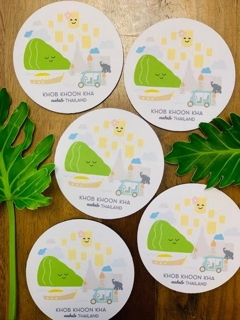 Fabric Coaster: Mahalo Thailand