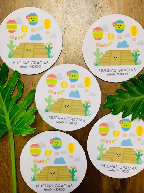 Fabric Coaster: Mahalo Mexico