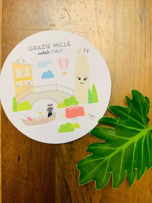 Fabric Coaster: Mahalo Italy