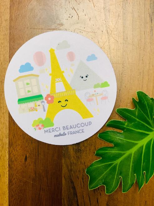 Fabric Coaster: Mahalo France