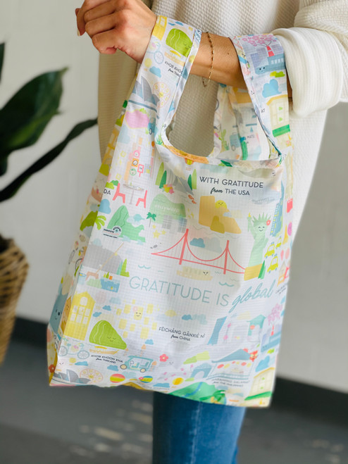 Small Tote: Gratitude is Global