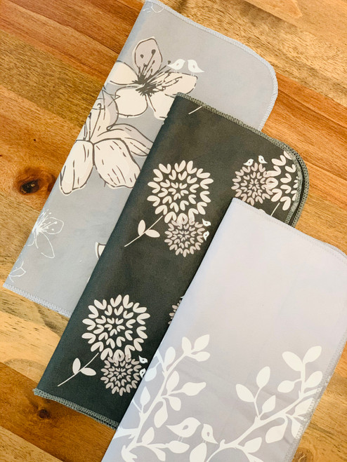 Luxe Counter Towels (Set of 3): Leaves in Bloom