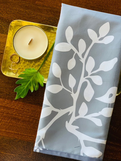 Luxe Kitchen Towel: Leaves in Bloom