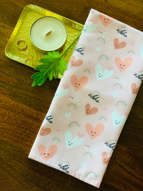 Luxe Kitchen Towel: Be The Aloha Heart (Pink)