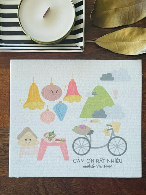 Swedish Dishcloth: Mahalo Vietnam