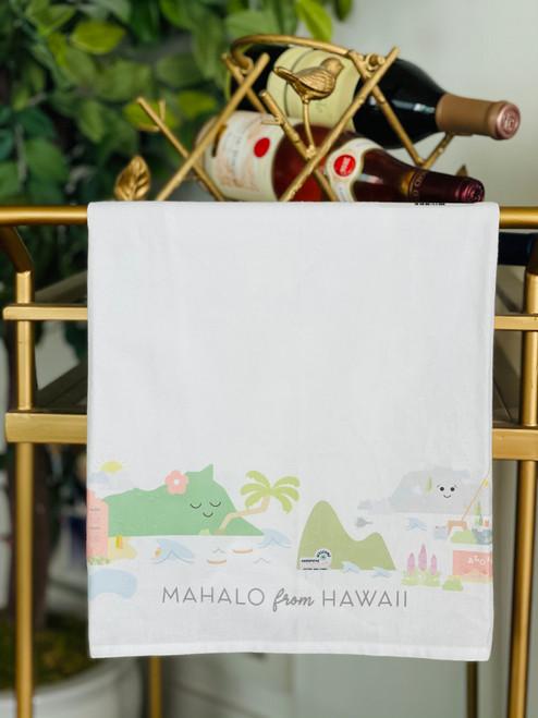 Dish Towel: Mahalo from Hawaii
