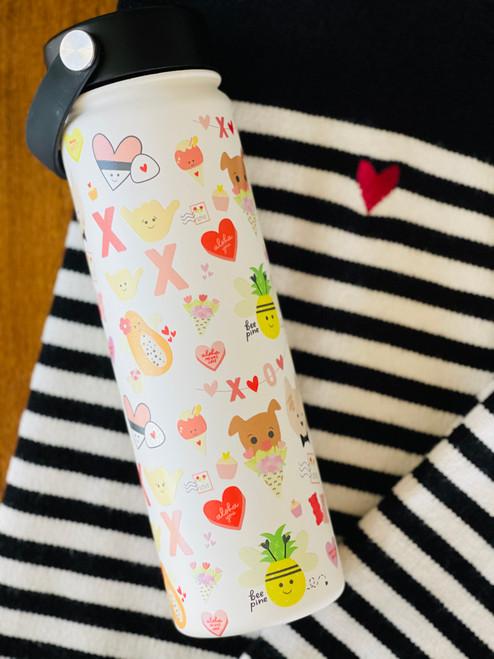 Water Bottle (21 oz): Eden in LOVE-Y DOVEY