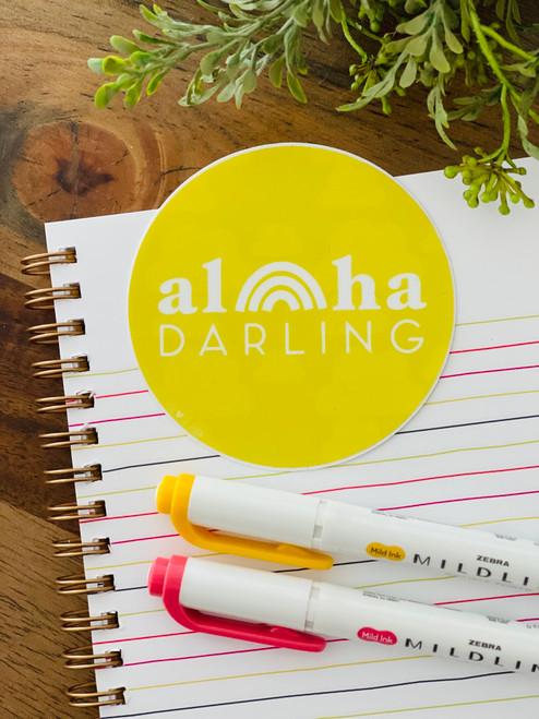 Sticker: Aloha Darling Round