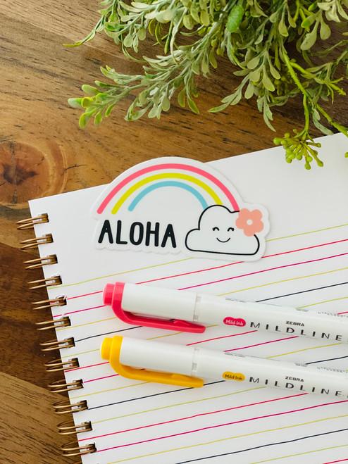Sticker: Aloha Happy Rainbow