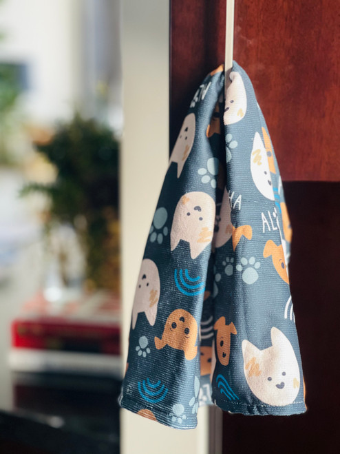 Kitchen Towel: Bear and Noodle