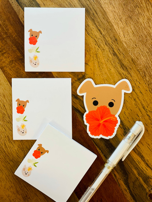 Post It Pad (50 Sheets): Bear and Noodle Bloomies