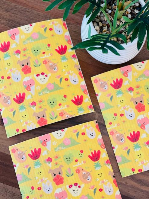 Swedish Dishcloth: Aloha Bloomies