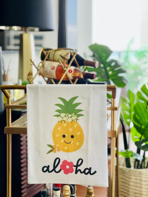 Dish Towel: Aloha Pineapple Crown