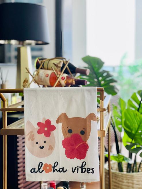 Dish Towel: Aloha Bloomies Bear and Noodle
