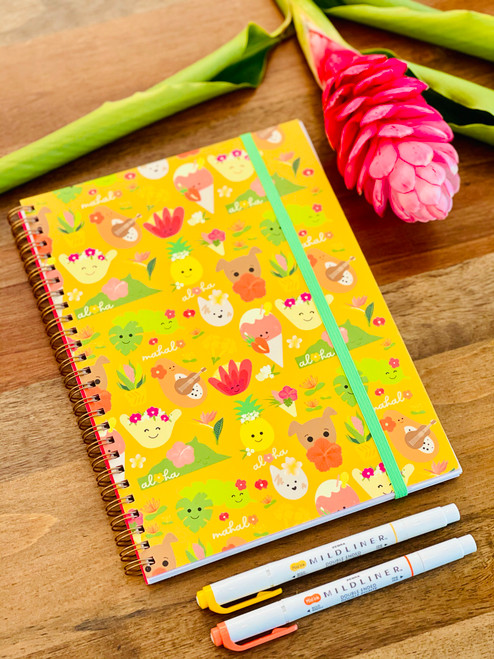 Spiral Notebook: Aloha Bloomies