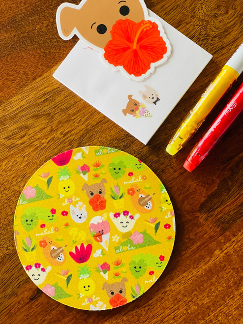 Fabric Coaster: Aloha Bloomies
