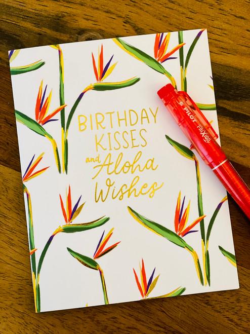 Aloha Wishes Greeting Card: Paradise