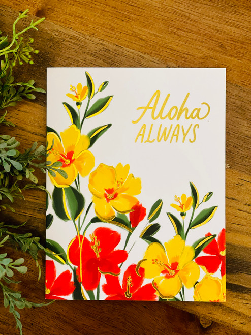 Aloha Always Greeting Card: Hibiscus