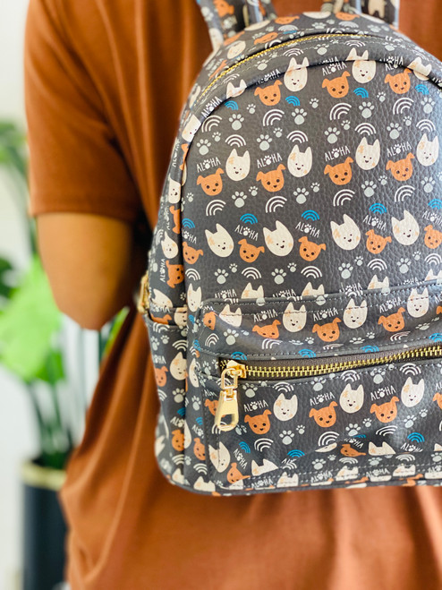 Mini Backpack: Bear and Noodle