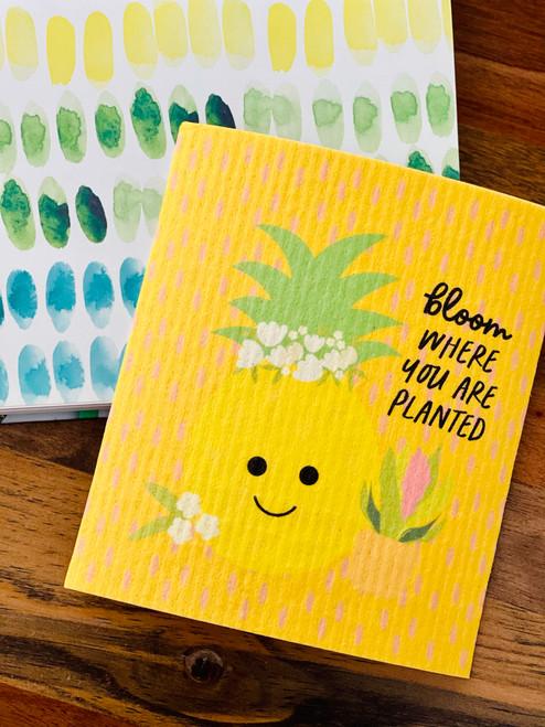 Swedish Dishcloth: Bloom Where You're Planted