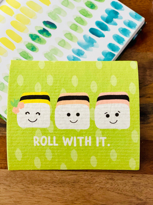 Swedish Dishcloth: Roll With It