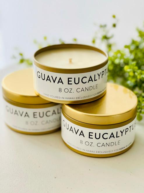 Jules and Gem 8 Oz Candle: Guava Eucalyptus