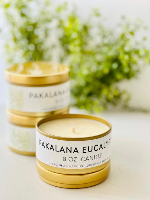 Jules and Gem 8 Oz Candle: Pakalana Eucalyptus