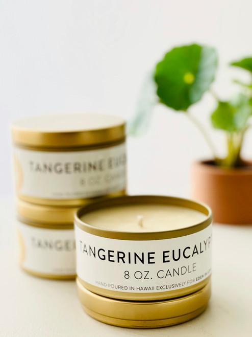 Jules and Gem 8 Oz Candle: Tangerine Eucalyptus