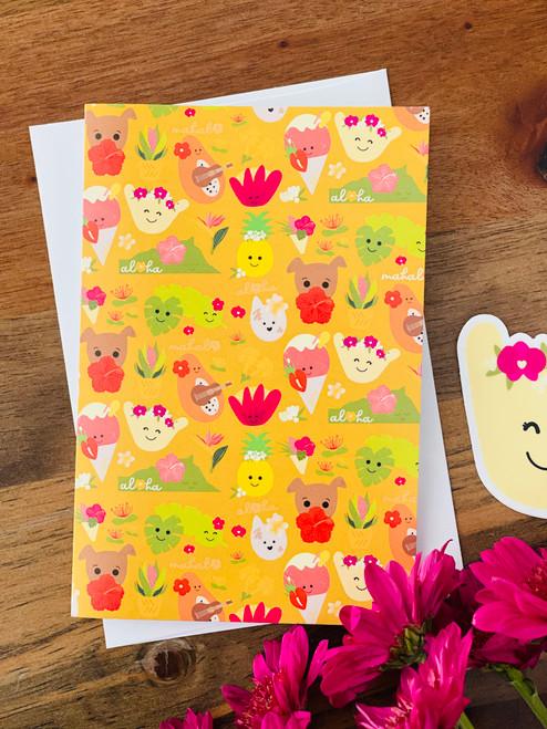 Greeting Card: Aloha Bloomies
